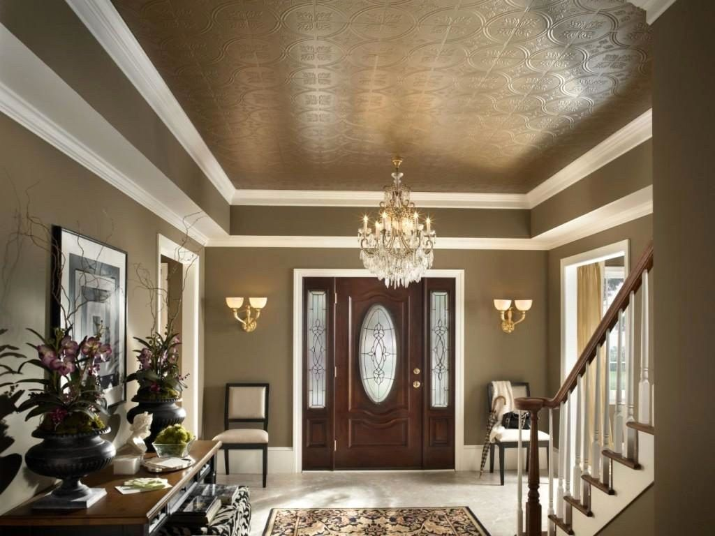 Tin ceilings in different colors lend a more dramatic air to a room.