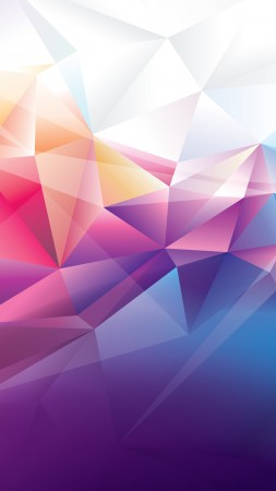 polygon, 4k, HD wallpaper, orange, red, blue, background, pattern (vertical)