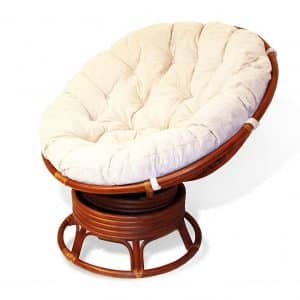 Rattan Wicker Swivel Rocking Papasan Chair