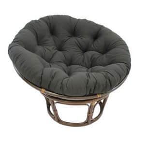 International Caravan 3312-TW-BK-IC Rattan Papasan Chair